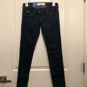 Hollister Oceanside Dark Denim Super Skinny Jeans